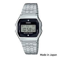 Casio Standard นาฬิกาข้อมือผู้หญิง/ผู้ชาย สายสแตนเลส รุ่น A159WAD-1DF (Made in JAPAN)