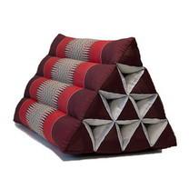 โอทอป แม่แย้ม หมอนสามเหลี่ยม 10 ช่องลายขิด สีแดง