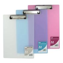 Robin คลิปบอร์ดพลาสติกใส A4 No.A441 คละสี (แพ็ก 6 ชิ้น)