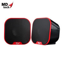 MD-TECH Speaker USB 2.0 SP-13 Red/Black
