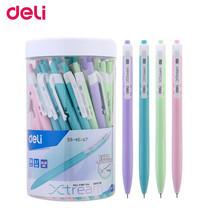 Deli Q03336 ปากกาลูกลื่นด้ามกด หมึกน้ำเงิน 0.7 มม. ด้ามคละสี (แพ็ก 50 ด้าม)