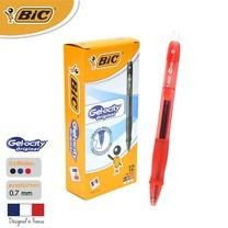 BIC ปากกาเจล Gel-ocity Original Clic 0.7 มม. (12 ด้าม/กล่อง) สีแดง