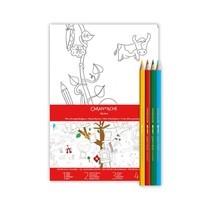 Caran D'Ache ชุดโปสเตอร์ XXl ครอบครัวต้นไม้+ดินสอสี 4 แท่ง