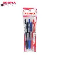 Zebra ปากกาหมึกเจล Sarasa Clip 0.5 มม. JJ15 คละสีน้ำเงิน+ดำ+แดง (แพ็ก 3 ด้าม)