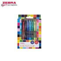Zebra ชุดปากกาหมึกเจล Sarasa Clip 0.5 มม. JJ15-10C SET 1 (แพ็ก 10 ด้าม)