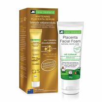 JC new zealand Whitening Placenta Serum 40 มล. + Placenta Facial Foam 50 ก. (แพ็ก 2)