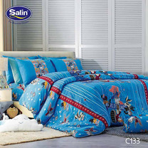 Satin Junior ผ้าปูที่นอน ลาย C133 6 ฟุต