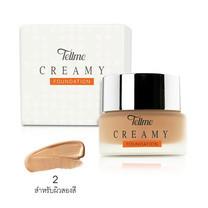 Tellme Creamy Foundation No.02 สำหรับผิวสองสี 16 ก.