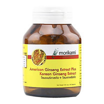 Morikami ซื้อ 1 แถม 1 American Ginseng Extract Plus Korean Ginseng Extract 500 มก. บรรจุ 30 แคปซูล