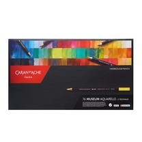 Caran D'Ache ชุดดินสอสีไม้ระบายน้ำ Museum Aquarelle 76 สี + พร้อมดินสอสเก็ตซ์ ระบายน้ำ (Techanalo)