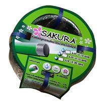 """SAKURA สายยางเด้งการ์เด้นพีวีซี 5/8""""x10 ม."""