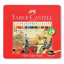 Faber Castell 24 Classic Colour Pencils in Metal Tin Box