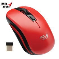 MD-TECH Wireless Optical Mouse RF-134 Red/Black