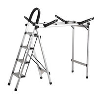Shopsmart Aluminum ladder with Clothes Dryer Hanger