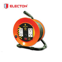 ELECTON ล้อชุดสายพ่วงไฟ มอก. VCT 3X2.5 10M เหล็ก รุ่น EN1-M32510