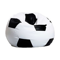 Your Style โซฟาบีนแบ็กฟุตบอล ขาว-ดำ