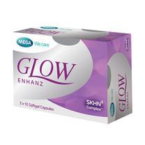 Mega We Care GLOW ENHANZ โกล์ว เอ็นฮานซ์ ผลิตภัณฑ์เสริมอาหารดูแลผิว บรรจุ 30 แคปซูล
