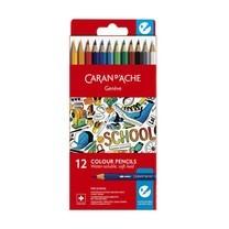 Caran D'Ache ชุดสีไม้ระบายน้ำ รุ่น School Line 12 สี กล่องกระดาษ
