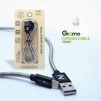 Gizmo Cable iOS USB สายสปริง 1,000 มม. Black