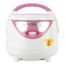 MITSUMARU หม้อหุงข้าว 0.8 ลิตร รุ่น AP508 สีชมพู