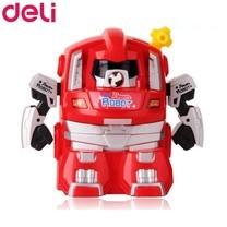 Deli 0729 เครื่องเหลาดินสอทรงหุ่นยนต์ สีแดง