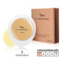Tellme UV Whitening Two Way Powder Cake SPF 30 (รีฟีล)+Spong No.02 สำหรับผิวสีแทน 12 ก.