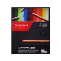 Caran D'Ache ดินสอไม้กันน้ำ 12 สี LUMINANCE