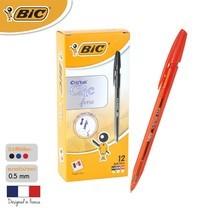 BIC ปากกาลูกลื่น Cristal Clic 0.8 มม. (12 ด้าม/กล่อง) สีแดง