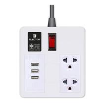 ELECTON สายพ่วง ปลั๊กไฟคุณภาพ A มอก. 2 เต้า 1 สวิตช์ 3 เมตร USB รุ่น EP-A4103U3