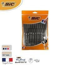 BIC ปากกาลูกลื่น Round Stic EZ 0.7 มม. (แพ็ก 12 ด้าม) สีดำ