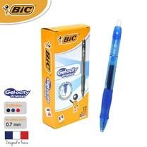 BIC ปากกาเจล Gel-ocity Original Clic 0.7 มม. (12 ด้าม/กล่อง) สีน้ำเงิน