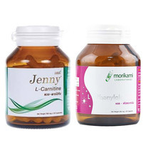 Jenny ชุดควบคุมน้ำหนัก เจนนี่แอล-คาร์นิทีน และแอล-ฟีนิลอะลานีนจากโมริคามิ (ขวดละ 30 แคปซูล)