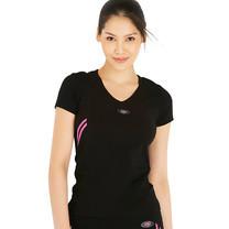 Teens Sport เสื้อฟิตเนส ออกกำลังกาย TT-59-P สีดำ-ชมพู Size M