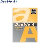 Double A กระดาษสี A4 หนา 75 แกรม (แพ็ก 100 แผ่น) สีส้มนีออน (Neon Orange)