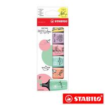 STABILO BossMini Pastel Love ชุดปากกาเน้นข้อความ 07/06-27 (แพ็ก 6 สี)