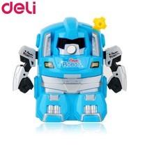 Deli 0729 เครื่องเหลาดินสอทรงหุ่นยนต์ สีฟ้า