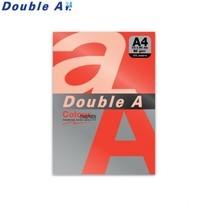 Double A กระดาษสี A4 หนา 80 แกรม (แพ็ก 100 แผ่น) สีแดงเข้ม (Red)