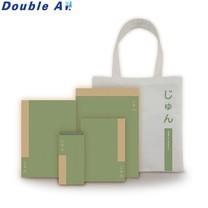 Double A ชุดสมุดรักษ์โลกเพียว 4 เล่ม คละไซส์ แถมฟรีกระเป๋าผ้า