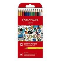 Caran D'Ache ชุดสีไม้ รุ่น School Line 12 สี