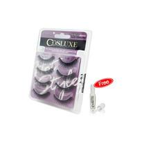 Cosluxe Valuepack Eyelashes [4 คู่] FREE Lash Adhesive