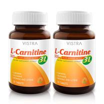 VISTRA L-Carnitine Plus 3L ปริมาณ 30 เม็ด/ขวด แพ็ก 2