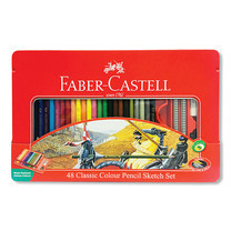 Faber Castell 48 Classic Colour Pencils in Metal Tin Box