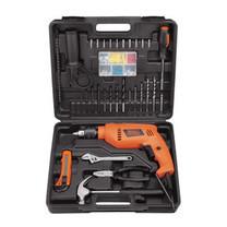 BLACK&DECKER เซ็ต Hammer Drill HD555KMPR 13 มม. 550W