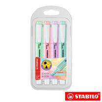 STABILO Swing Cool Pastel in Wallet ปากกาเน้นข้อความ สีพาสเทล (แพ็ก 4 สี)