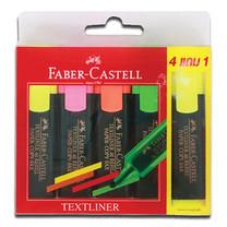 Faber Castell Textliner 48 Refill Assorted แพ็ก 4 + 1