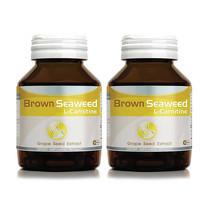 Amsel L-Carnitine, Brown Seaweed and Grape Seed Extract ผลิตภัณฑ์เสริมอาหารแอมเซล แอล-คาร์นิทีน บรรจุ 30 แคปซูล แพ็ก 2