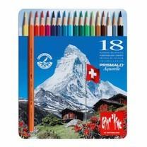 Caran D'Ache ดินสอสีระบายน้ำ Prismalo 18 สี