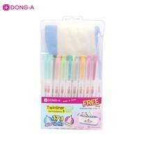 DONG-A ปากกาไฮไลท์ 2 หัว 17 สี Twinliner SOFT+กระเป๋าคละสี