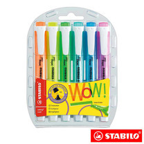 STABILO Swing Cool ชุดปากกาเน้นข้อความ Swing Cool in Wallet (แพ็ก 6 สี)