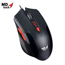 MD-TECH Optical Mouse USB BC-85 Black/Red